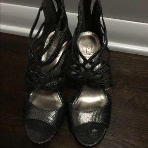 Dark Metallic Silver Heels